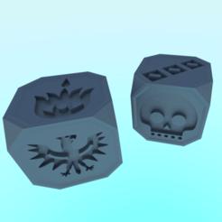 3D printer models Action and Faction bones for Dune Dice Game - board game free 3D model, NikolayTr