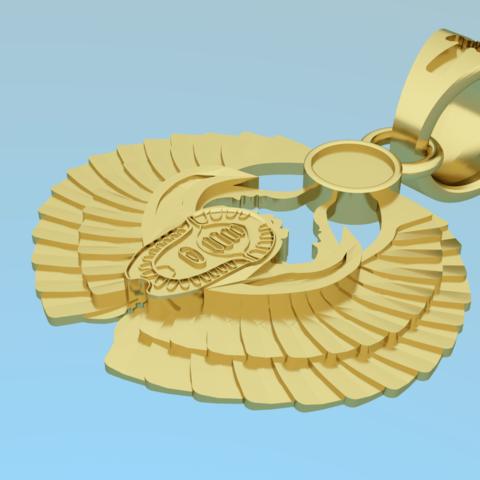 Pendant - scarab 3D model