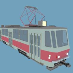 Re1.png Télécharger fichier OBJ Tramway (tramway) Tatra • Design à imprimer en 3D, NikolayTr