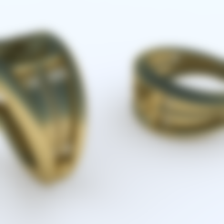 Download 3D printing templates Sea - Signet Ring 3D model, NikolayTr