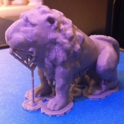 Download free 3D printer files Venetian Lion (No Support Needed), Yipham