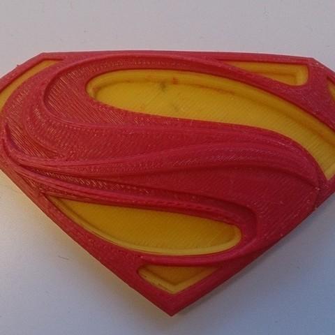 Download free 3D printer designs Man of Steel logo (Dual Extrusion), Yipham