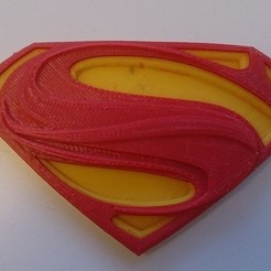 Download free 3D printer designs Man of Steel logo (Dual Extrusion), Yipham