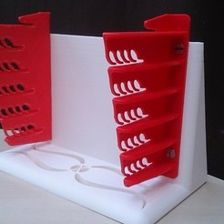 Free 3D printer model bookend for glass plate rack, Yipham
