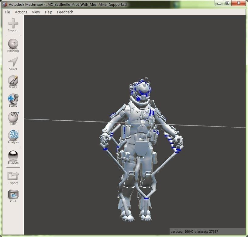 MeshMixerTitanFallPilot_display_large.jpg Télécharger fichier STL gratuit TitanFall IMC Pilot • Modèle pour impression 3D, Yipham