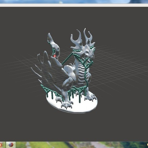 dragon_pic_display_large.jpg Download free STL file Forest Dragon (No Support Needed) • Template to 3D print, Yipham