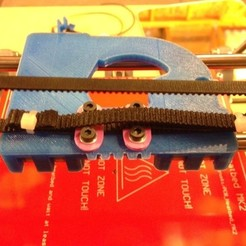 Download free STL GT2 Belt Clamp For Ecksbot, Yipham