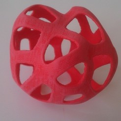 Free 3D printer files voronoi style blob, Yipham
