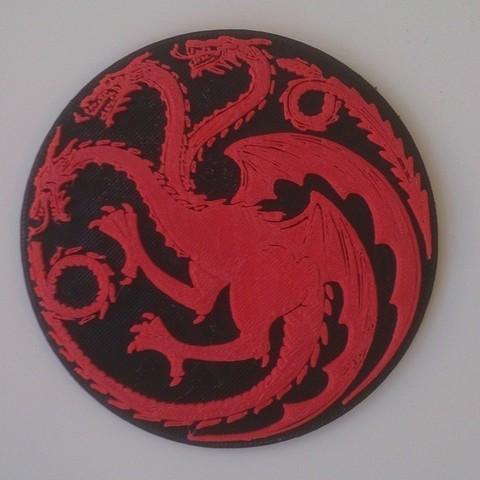 Download free 3D printer designs House Targaryen Sigil, Yipham