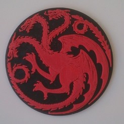Download free 3D printer designs House Targaryen Sigil, Yipham