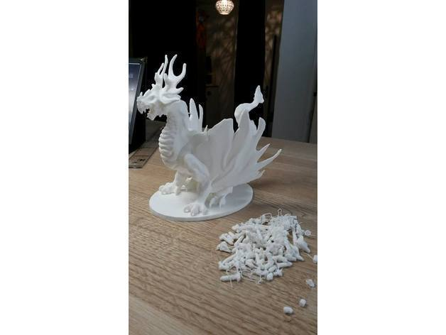 56ef45b9e39dbc207fc605aa9d40794a_display_large.jpg Download free STL file Forest Dragon (No Support Needed) • Template to 3D print, Yipham