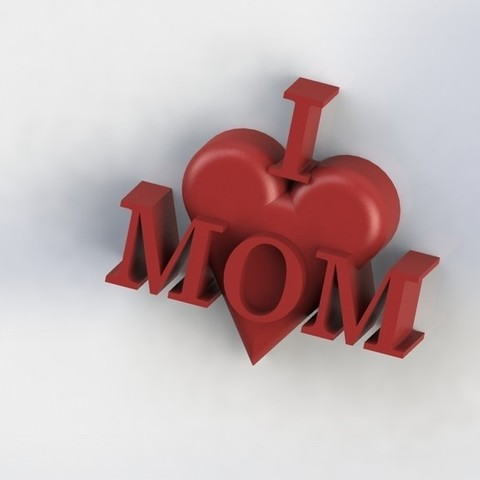 Download free 3D printer model I Heart MOM, Yipham