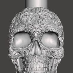 skull 01.JPG Télécharger fichier STL Crâne Shisha • Objet pour imprimante 3D, HarunaHappy
