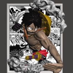 Marco Luffy 01.png Télécharger fichier STL Monkey D Luffy One Piece • Design pour imprimante 3D, HarunaHappy
