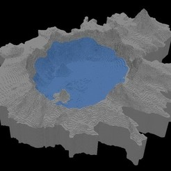 Free 3D print files Crater Lake, Tramgonce