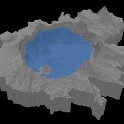 Descargar modelos 3D gratis Lago del cráter, Tramgonce