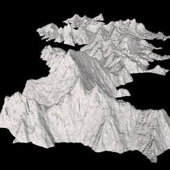 Télécharger plan imprimante 3D gatuit Mont Everest, Tramgonce