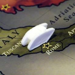 STL gratuit Pièces de chars d'assaut (d'armée) de la Première Guerre mondiale pour la diplomatie Jeu de plateau, Tramgonce