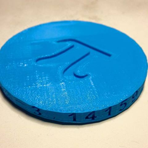 Download free 3D printer templates Pi day 2015, Tramgonce