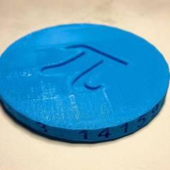 Fichier imprimante 3D gratuit Pi jour 2015, Tramgonce