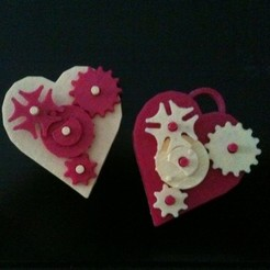 Download free 3D printer files Valentine Gears Pin/Pendant, Tramgonce
