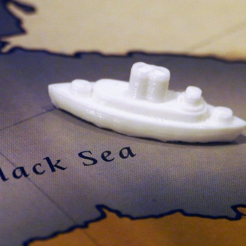 Free STL WW1 Ship (Fleet) Pieces for Diplomacy the Board Game, Tramgonce