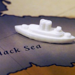 Download free 3D printer templates WW1 Ship (Fleet) Pieces for Diplomacy the Board Game, Tramgonce