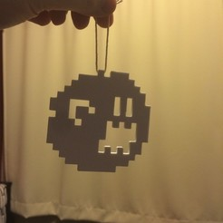 Free 3D printer files Pixel ghost Boo from Mario Bros games., Tramgonce