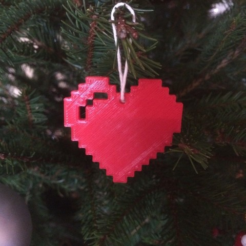 Download free 3D printing templates Pixel Heart, Tramgonce