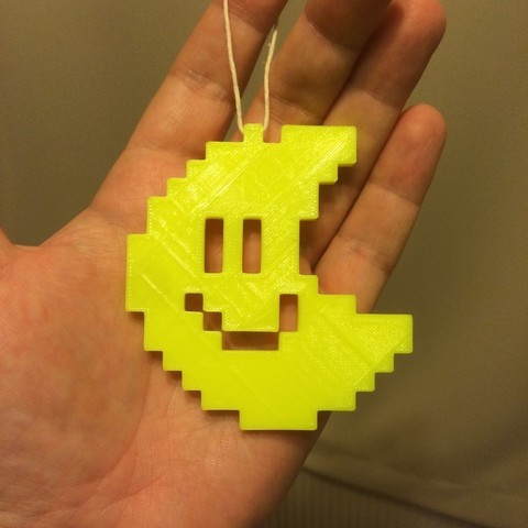 Download free 3D printing models Pixel Moon from Mario Bros games. (I think), Tramgonce