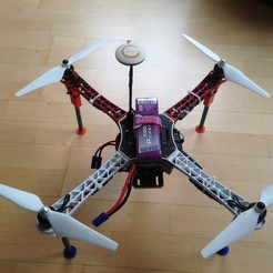 Free 3D printer model DJI F450 landing gear, Tramgonce