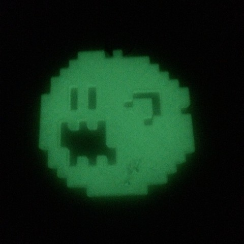 Pixel ghost Boo from Mario Bros games
