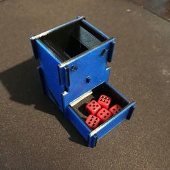 Free STL files Mini Dice Tower, Tramgonce
