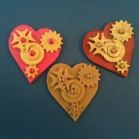 Free STL file Snap-Together Valentine Gears Pin and Pendant, Tramgonce