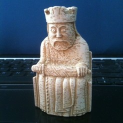Free 3D model Lewis Chessmen - King, Tramgonce