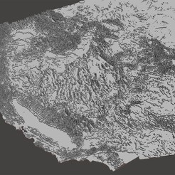 Download free STL file Continental United States Topography, Tramgonce