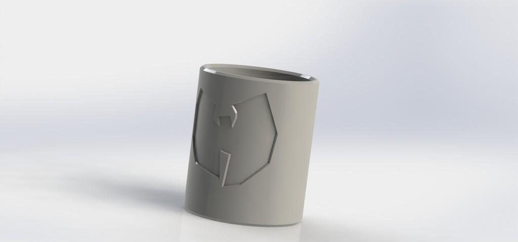 1032a0591def3850a7ba99cb3aa9d537_display_large.JPG Download free STL file (REQ) Shot glass with Wu - tang logo • 3D printer model, _Jonatan