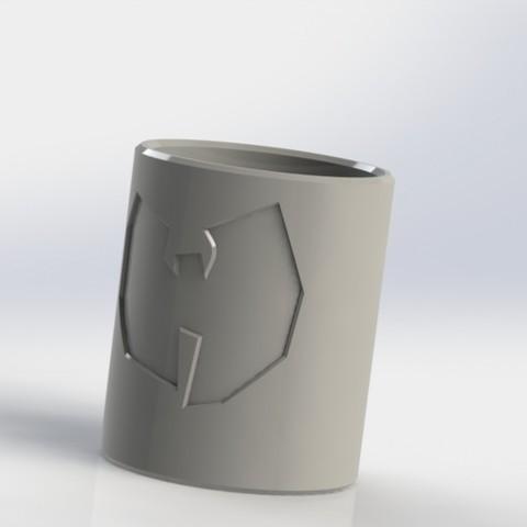 Download free STL files (REQ) Shot glass with Wu - tang logo, _Jonatan