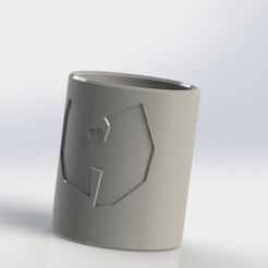 Download free STL file (REQ) Shot glass with Wu - tang logo • 3D printer model, _Jonatan