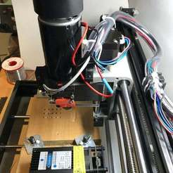 Download free STL file CNC Router 3018 Pro 52mm Spindle / 40mm Laser Upgrade • 3D print template, fastkite
