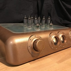 Free 3D printer model Steampunk Vacuum Tube Amplifier, fastkite