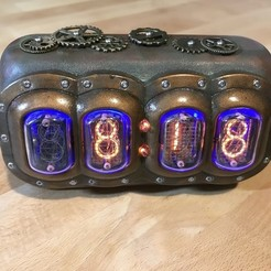 6d412a6d66566f3bbddb7d2a2495856d_display_large.jpg Download free STL file Steampunk Nixie Tube Clock • Design to 3D print, fastkite