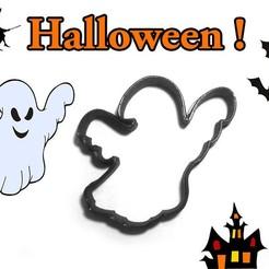 Descargar archivos 3D Cortador de galletas de Halloween Ghost Punch, Geek3D