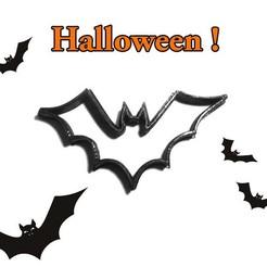 chauve_souris_public (1).jpg Download STL file Halloween bat cookie cutter Cookie Cutter • 3D printable design, Geek3D