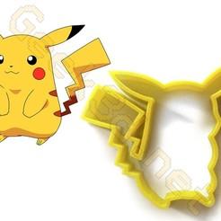 Télécharger plan imprimante 3D Emporte-pièce Pikachu Pokémon Patisserie Cookie Cutter, Geek3D