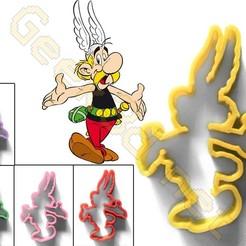 Asterix multi.jpg Télécharger fichier STL Emporte-pièce Asterix Gaulois Cookie Cutter • Plan imprimable en 3D, Geek3D