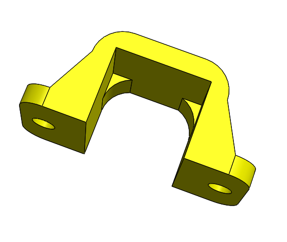 Imagen 2.PNG Download free STL file POLOLU Micro Motor Support. • 3D printing object, IonRobotica
