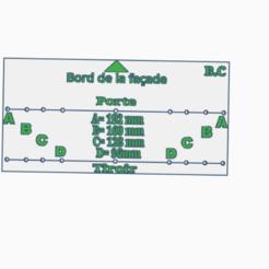 Gabarit de perçage poignée avec entraxe.PNG Télécharger fichier STL gratuit Gabarit de perçage avec entraxe pour poignée (porte et tiroir) • Plan pour impression 3D, BCpro