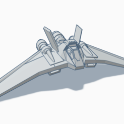 Télécharger fichier imprimante 3D gratuit Avion vaisseaux Stargate F-302 , BCpro