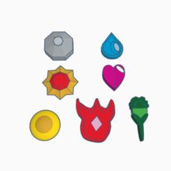 Télécharger fichier STL gratuit Badge Pokémon Kanto, BCpro